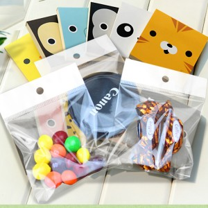 Maminated Material Header Card Self Adhesive Bag, Best High Quality Single Layer Plastic Bag