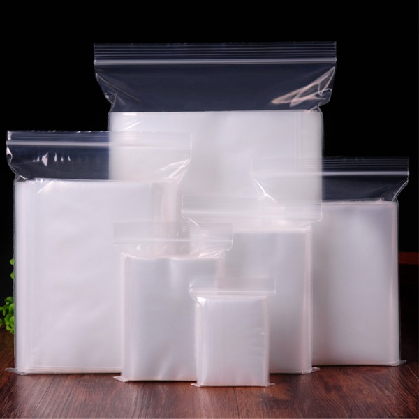 High Quality Transparent Pe Ziplock Food Storage Bags, Recloseable Without Printing Packaging Ziplock Food Bags
