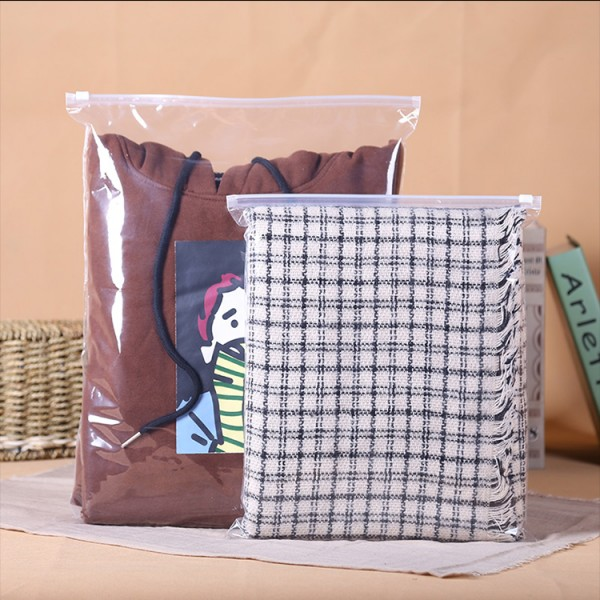 Semitransparent Leakproof Clothes Storage Bags With Zipper